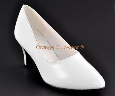 wide high heels shoes pleaser 420 womens wide width white pumps 3