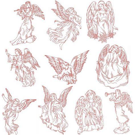 embroidery design redwork redwork angels designs machine embroidery designs by sew