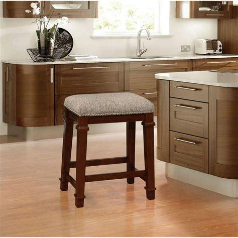 linon home decor bar stools linon home decor kennedy 24 in walnut cushioned bar stool