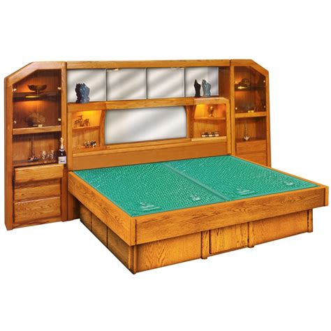 Waterbed Frame With Drawers by Marathon Wall Unit Wood Frame Waterbed