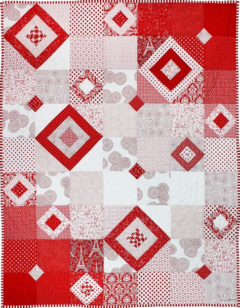 Square Patchwork Patterns - quilt inspiration free pattern day and white quilts