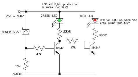 Power Supply Smps 12 Volt Untuk Arduino 9v battery status indicator circuit with circuit diagram