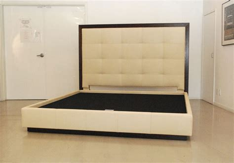 King Bed With Leather Headboard by Unique And Awesome Combination Between Bed Frames