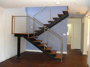 Ss Handrails Metal Floating Stairs Amp Straight Stair Photo Gallery