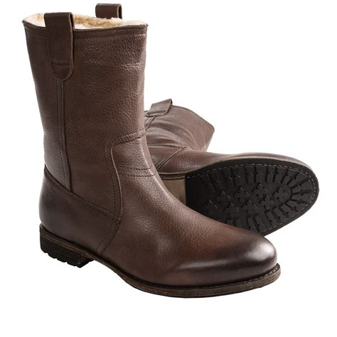 mens sheepskin lined boots blackstone am33 wellington boots shearling lined for