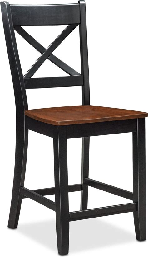 counter height dining room chairs nantucket counter height side chair black and cherry