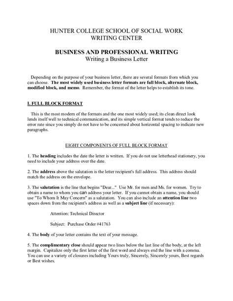 business letter template fillable printable