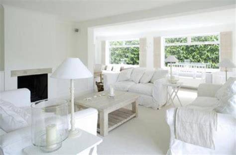 White Living Room by 15 Serene All White Living Room Design Ideas Rilane