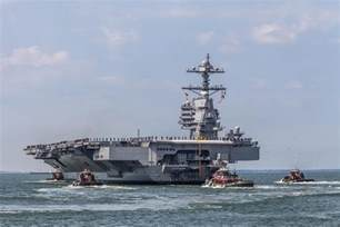 Uss Ford Class In Class Carrier Gerald R Ford Returns From