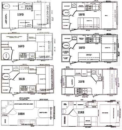 Travel Trailers Floor Plans Classic Cruiser Travel Trailer Floorplans Small Picture