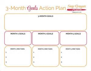 3 month goals action plan free printable worksheet to