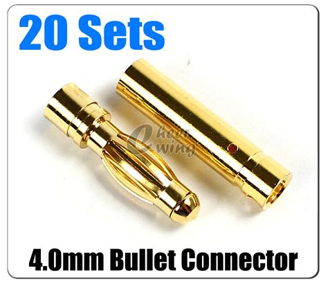 Gold Connector 35 Mm Cowok U Rc Esc Rc Brushless 20 x 4mm 4 0mm gold bullet connector for rc battery esc motor ebay