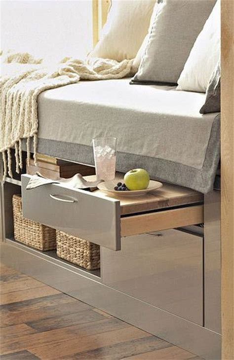 creative  bed storage ideas  bedroom noted list