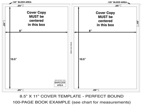 Cover Templates Instantpublisher 8 5 X 11 Photoshop Template