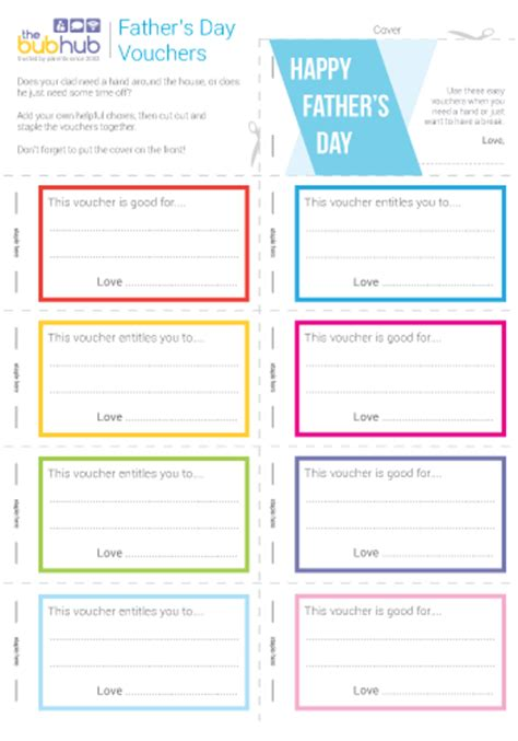 printable carluccio s vouchers father s day vouchers printable bub hub