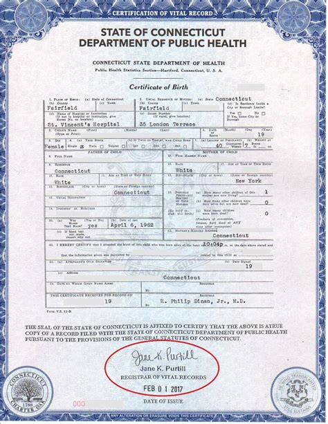 Birth Records Connecticut Birth Certificate Baby Form Security Size Birth Certificates Health And Human