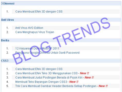 cara membuat blog bagus cara membuat daftar isi yang bagus blog trends