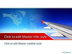 Free Plane Ppt Template How To Powerpoint Templates From Microsoft