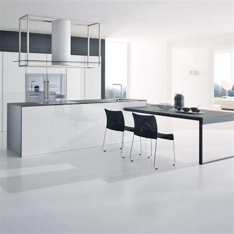 Kitchen Islands Designs With Seating by De 100 Fotos De Decoraci 243 N De Cocinas Blancas Y Grises