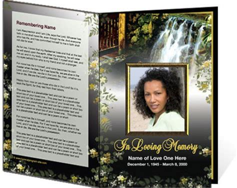 free funeral template free printable funeral program template just b cause