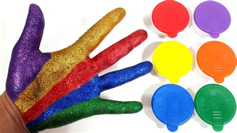 glitter colors paint glitter colors finger play learn colours family