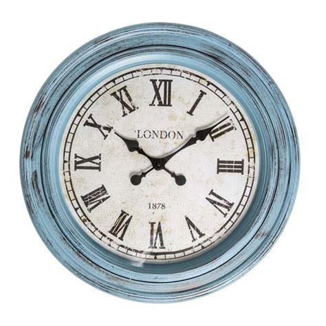 buy clock buy fulton large wall clock blue purely wall clocks