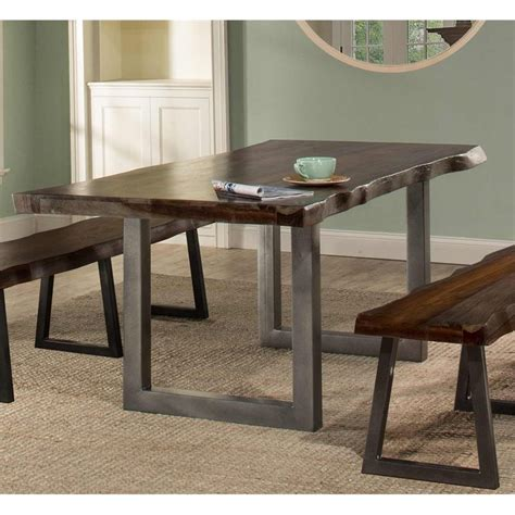 Emerson Dining Table Hillsdale Emerson Dining Table In Gray Sheesham 5925dt