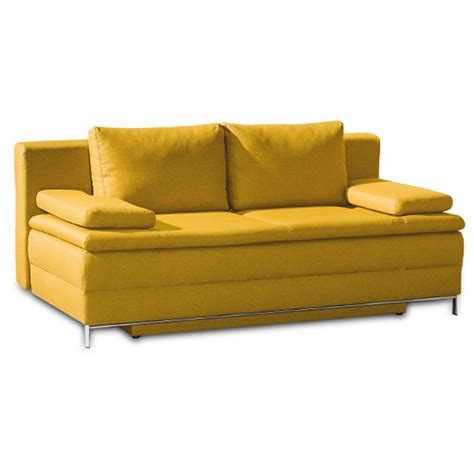 schlafsofa ausziehbar boxspring schlafsofa in gelb ausziehbar mit bettkasten