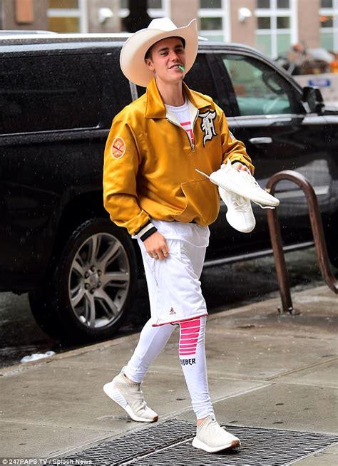 justin bieber jacket in boyfriend justin bieber rocks a cowboy look in new york city daily