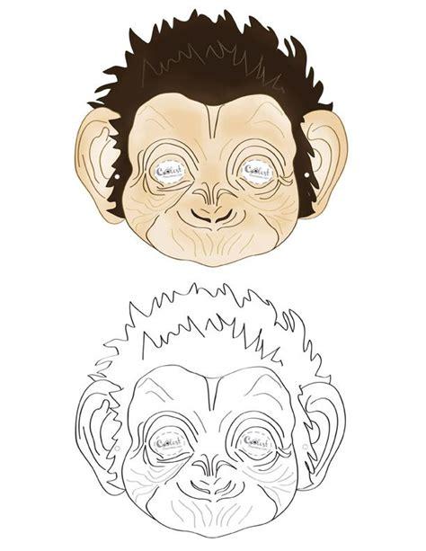 printable mask monkey printable monkey mask coolest free printables mount
