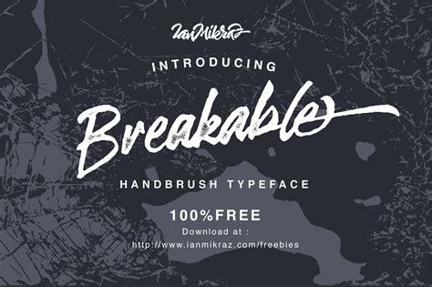 breakable brush font befontscom