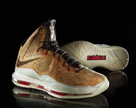 cork basketball shoes corkboard slam dunk sneakers nike lebron x nsw cork