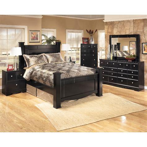 shay black  piece queen bedroom set