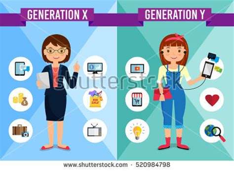 royalty free generations comparison info graphic