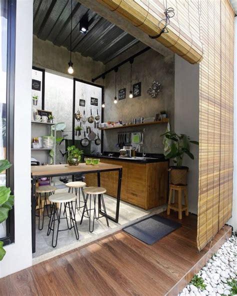 desain dapur terbuka tuk suasana memasak  lebih hangat
