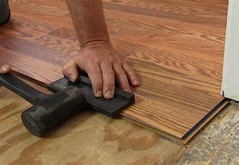 Installation Of Laminate Flooring Install A Laminate Floor