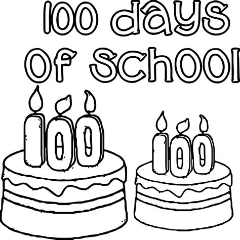 100 Days Of School Coloring Pages 100th Day Coloring Pages Day Of School Coloring Page