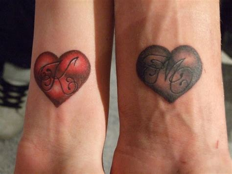 couple tattoos linked by ink inspirebee
