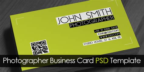 Photographer Visiting Card Templates Psd by Free Photographer Business Card Psd Template Freebies