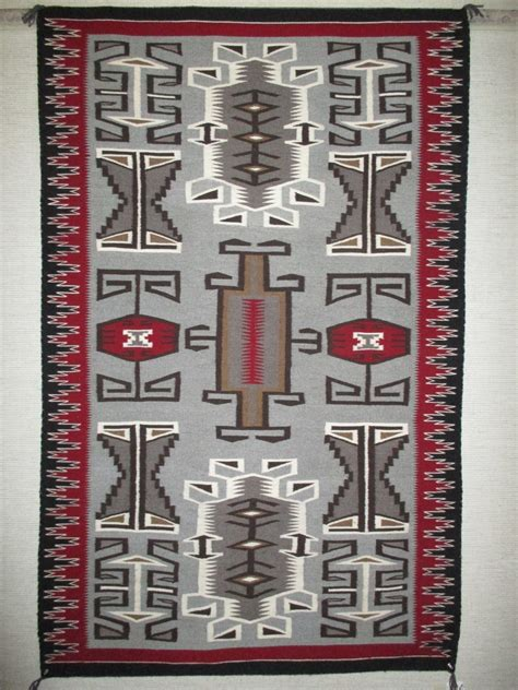 rug and tug teec nos pos rug by renn smith larger size navajo weaving two grey