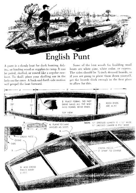 punt boat plans free lumberyard punt