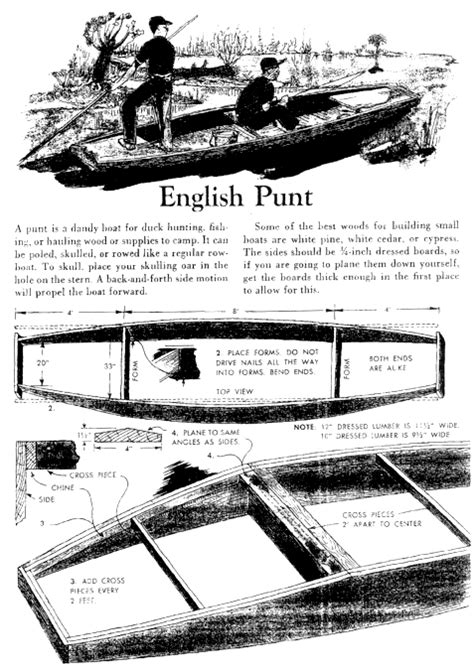 duck punt boat plans lumberyard punt