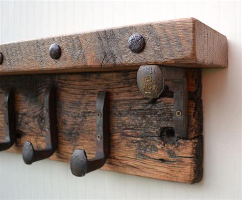 reclaimed wood wall coat rack reclaimed wood coat rack wb designs