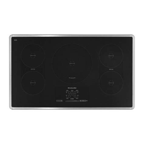 kitchenaid induction hob kicu569xss kitchenaid 36 quot induction ceramic cooktop architect 174 series ii stainless steel