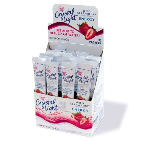 crystal light water flavor packets crystal light drink mix wild strawberry energy with