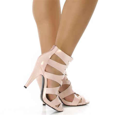 rosa high heels lack sandaletten high heels rosa 96b 2 ebay