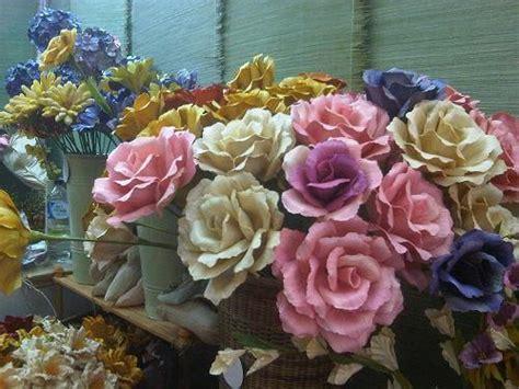 membuat kolase dari kulit jagung kerajinan tangan bunga hias dari kulit jagung