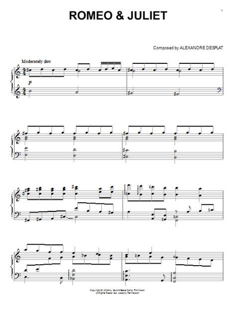 theme songs for romeo and juliet characters romeo juliet sheet music direct