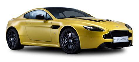 aston martin png aston martin v12 vantage s yellow car png image pngpix