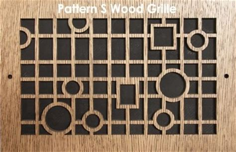 pattern cut wood grilles aire return grille wood vent covers patterncut